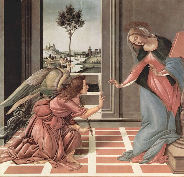 Cestello Annunciation by Botticelli, 1490