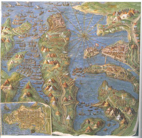 El Sitio de Malta, pintura de Egnazio Danti del siglo XVI (Museos Vaticanos).