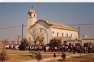Español: Templo en una fiesta patronal en los ...