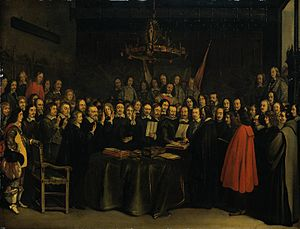 The Ratification of the Treaty of Munster, Gerard Ter Borch (1648).jpg