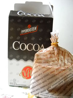 English: Van Houten cocoa powder. Bahasa Indon...