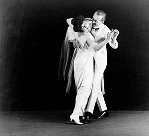 Dancers Vernon and Irene Castle. Gelatin silve...