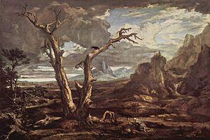 Elijah in the wilderness, by Washington Allston