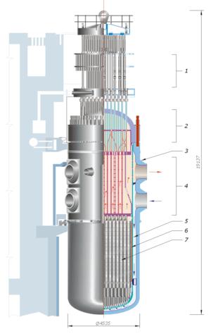 1 – control rods; 2 – reactor cover; 3 – react...