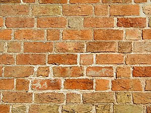 "Brick wall in ""Gothic bonding"" (&quo..."