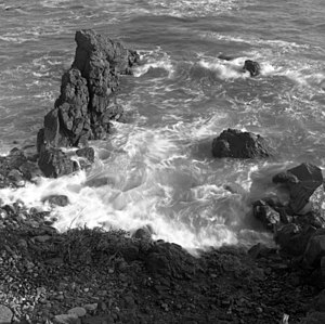 Pacific Ocean Coast at Ensenada, Baja Californ...