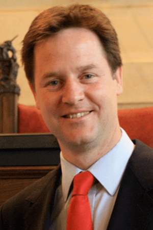 Portrait of Nick Clegg.