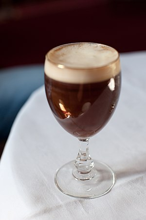 An Irish coffee.