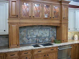 English: Kitchen cabinet display in NJ in 2009...