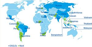 English: Map of Emerging Markets