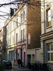 Inschrift der Polnischen Arbeiterbank, Klosterstr. 2, Bochum