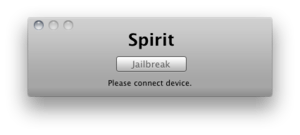 A screenshot of the Spirit Jailbreak Tool on M...