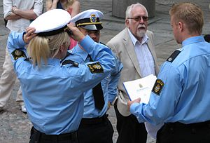 More police at the swearing-out ceremony.