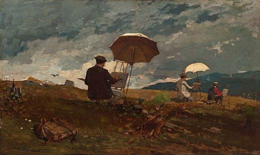 Winslow Homer - Artists Sketching in the White Mountains