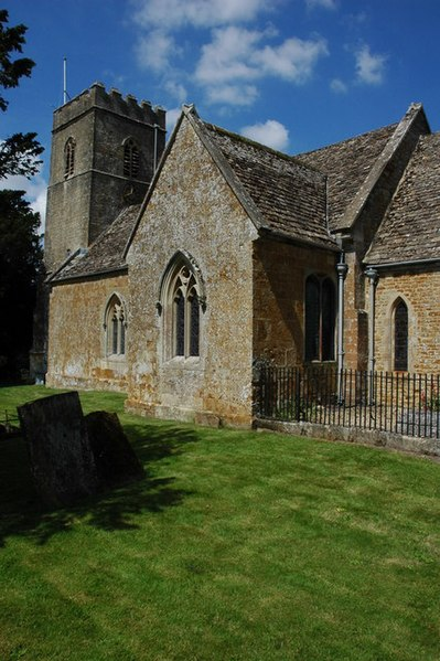 South transept and west tower of St Mary Magdalene's parish church, Adlestrop, Gloucestershire