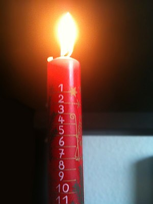 English: Advent candle