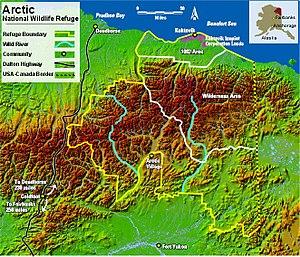 Arctic National Wildlife Refuge Map: 1002 Area...