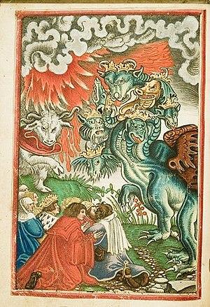 Deutsch: Apokalypse aus Lutherbibelexemplar in...