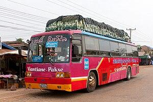 English: Vientiane - Pakse regular bus (Hyunda...