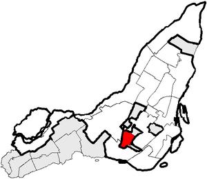 Location of Côte-Saint-Luc, Québec.