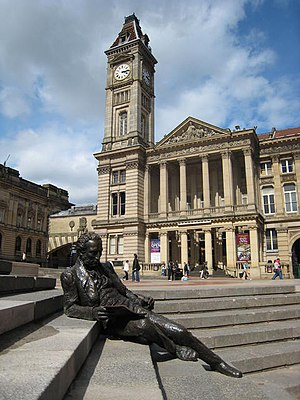 English: Chamberlain Square With the reclining...