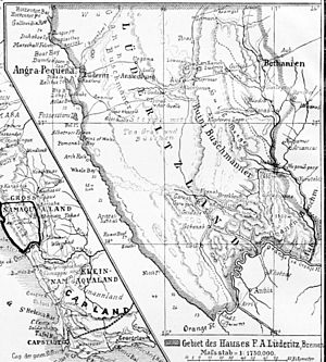 English: Lüderitzland in early German South-We...
