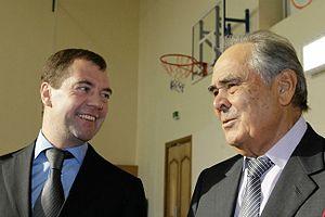 English: Dmitry Medvedev and Mintimer Shaymiev...
