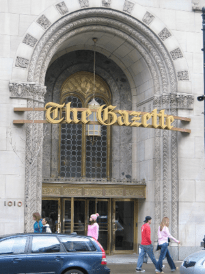 The offices of The Gazette newspaper on Saint ...