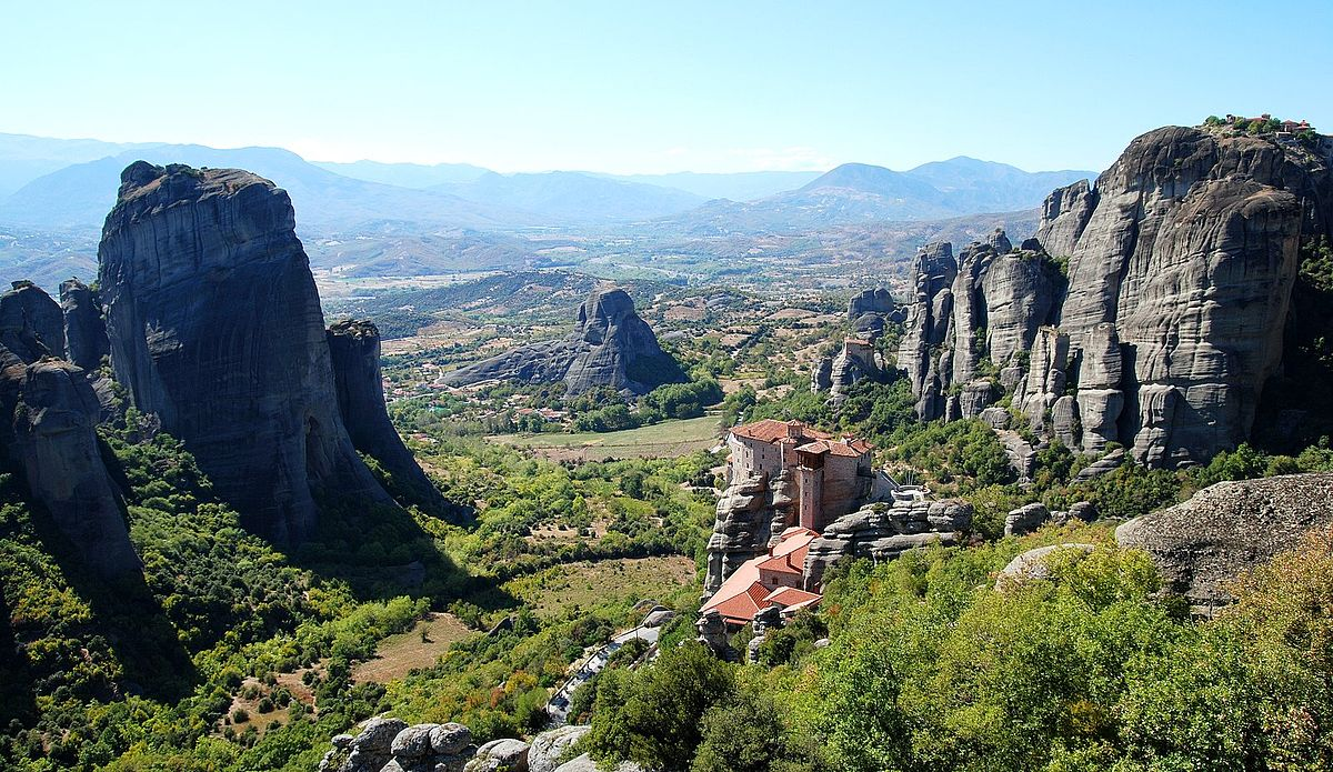 Rock Monastery Meteora Greece