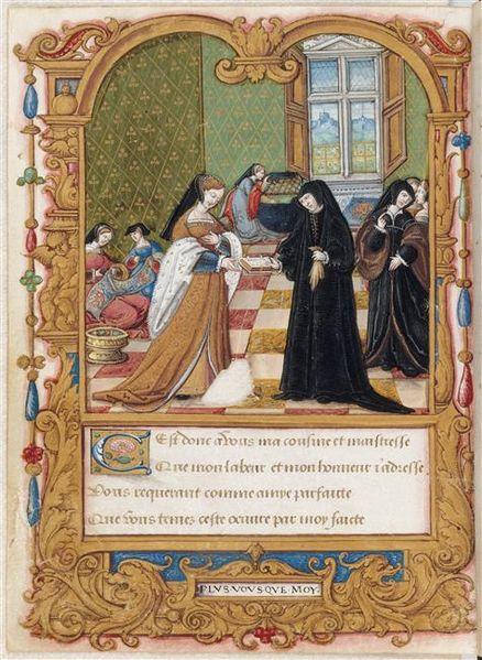 File:La Coche ou débat d'amour - Musée Condé Ms522 f43v (Marguerite de Navarre et Anne de Pisseleu).jpg