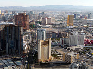 English: View of Las Vegas, Nevada, USA from t...