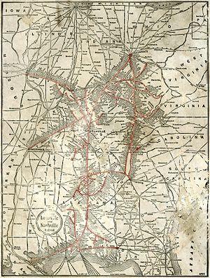 Map of the Louisville & Nashville Railroad