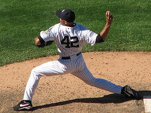 English: New York Yankees Pitcher Mariano Rive...