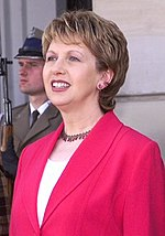 Mary McAleese, señora Presidenta de Irlanda