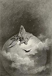El cuervo ilustrado por Gustave Doré.