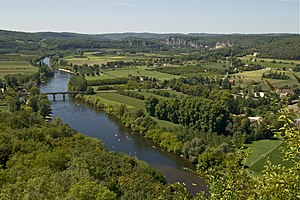 The Dordogne river, as seen from Domme, Dordog...