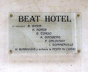 Plaque at No. 9 Rue Gît-le-Cœur, Paris 6th, in...