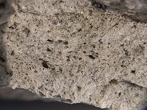 Pumice is a textural term for a volcanic rock ...