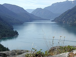 Stehekin, Washington, and the north end of Lak...