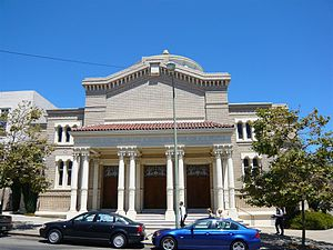 English: Exterior of Temple Sinai - First Hebr...