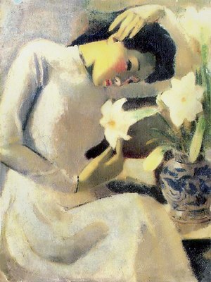 English: Thiếu nữ bên hoa huệ (Young Woman wit...