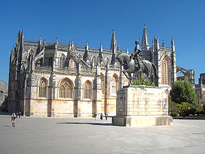 General view on the monastery of Batalha, Portugal