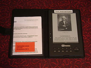 English: Bebook -ebook reader owned by Turku c...
