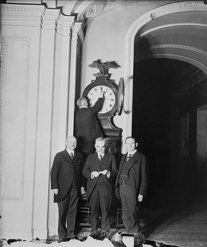 Ohio Clock in the U.S. Capitol being turned fo...