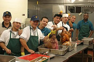 English: Gold Hill Galley food service workers...