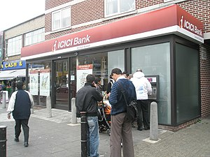 English: ICICI bank in South Road