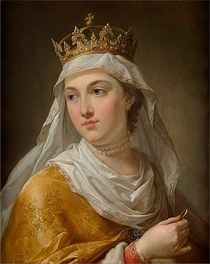 Portrait of Queen Jadwiga of Poland.