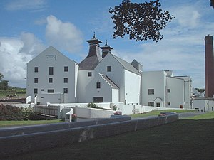 The entrance to the Lagavulin Distillery