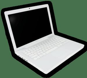 White MacBook laptop