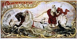 Neptune, tobacco product art (1860-1870)